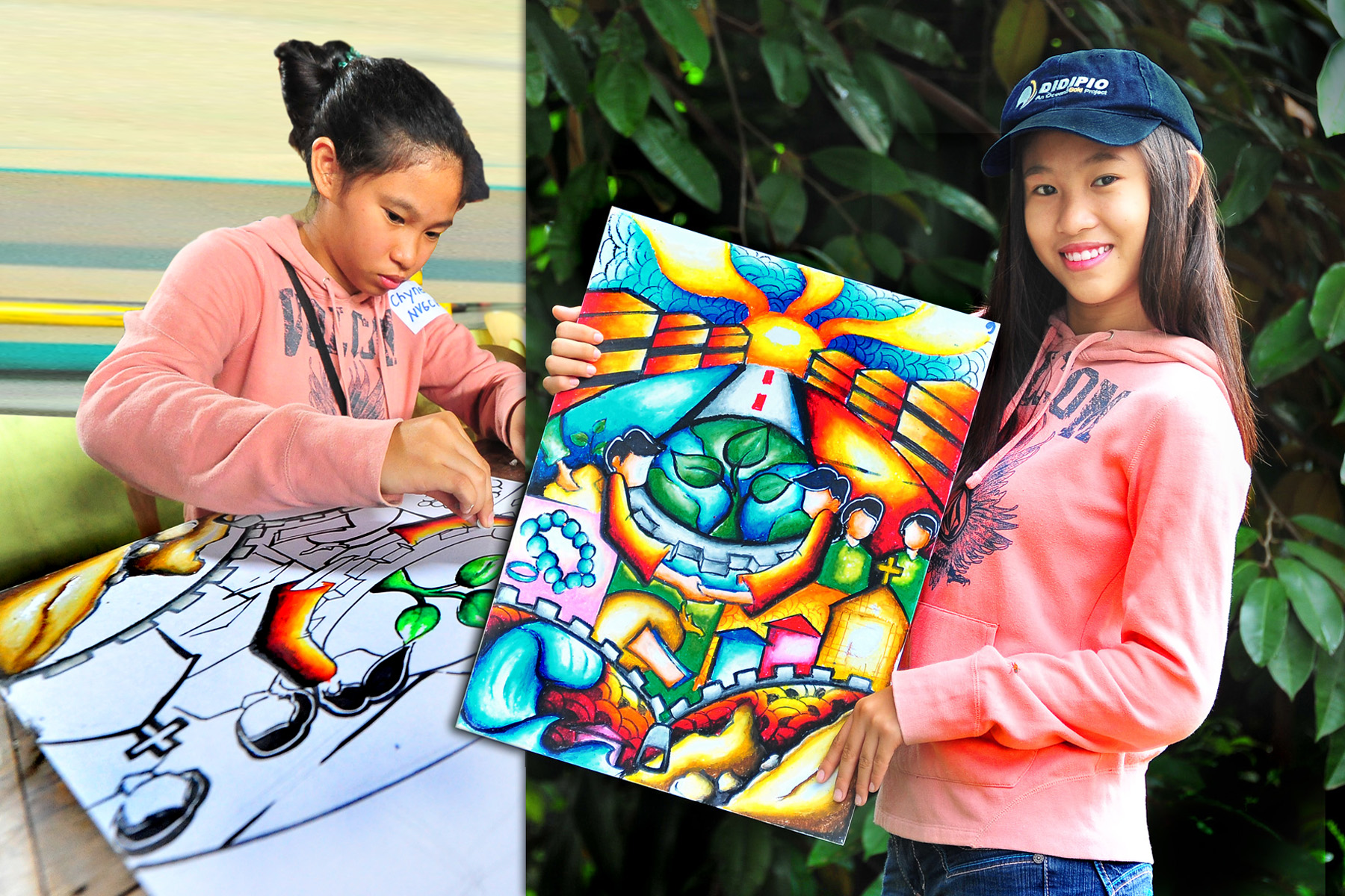 Teen Artist Paints Mining Project Green OceanaGold Philippines Inc